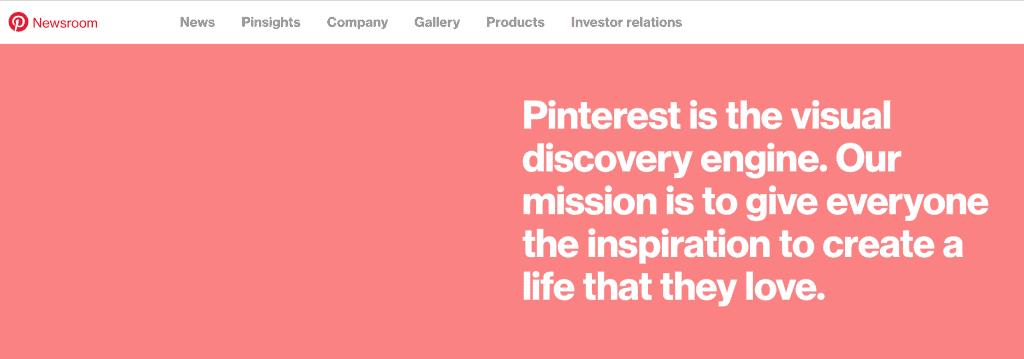 Description of Pinterest from Pinterest